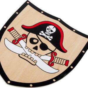 Scudo in legno pirata Barbarossa