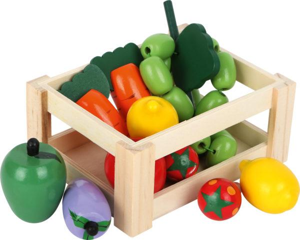 Cassetta di verdure in legno