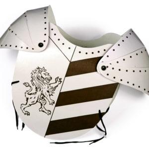 scudo cavaliere leone