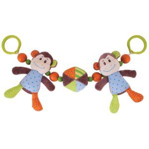 scimmietta dispettosa passeggino