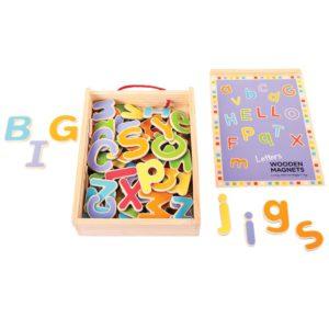 lettere magnetiche in legno