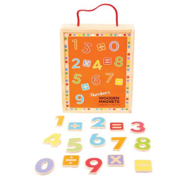 numeri di legno magnetici