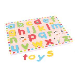 puzzle lettere alfabeto legno