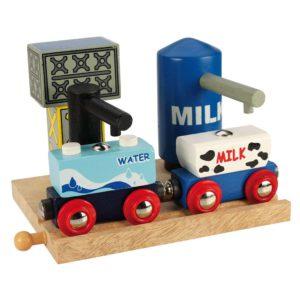 Serbatoio di acqua e latte per trenini in legno