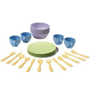 set piatti plastica riciclata